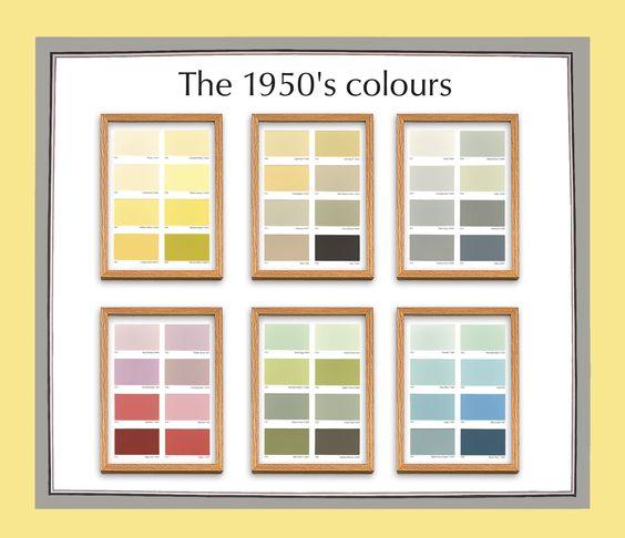 Image result for 50s color palette