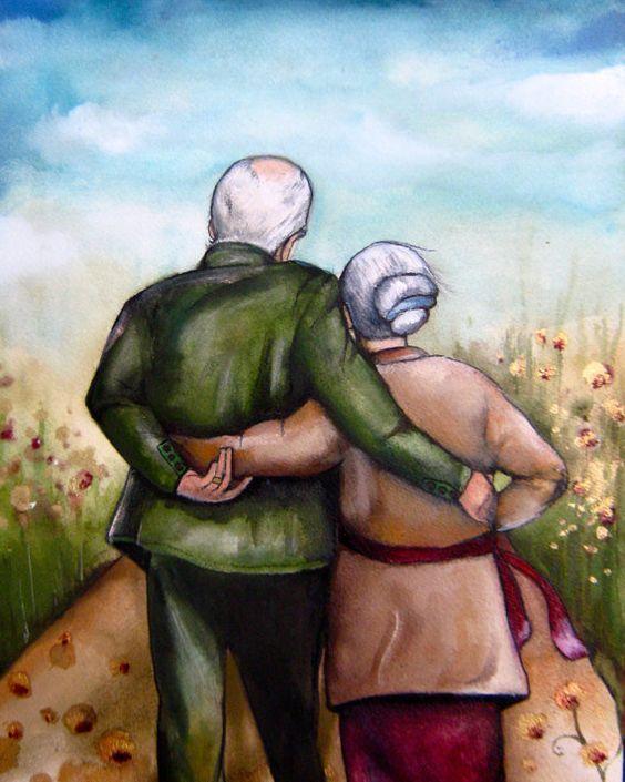 Elder couple idea wedding anniversary 50th by claudiatremblay