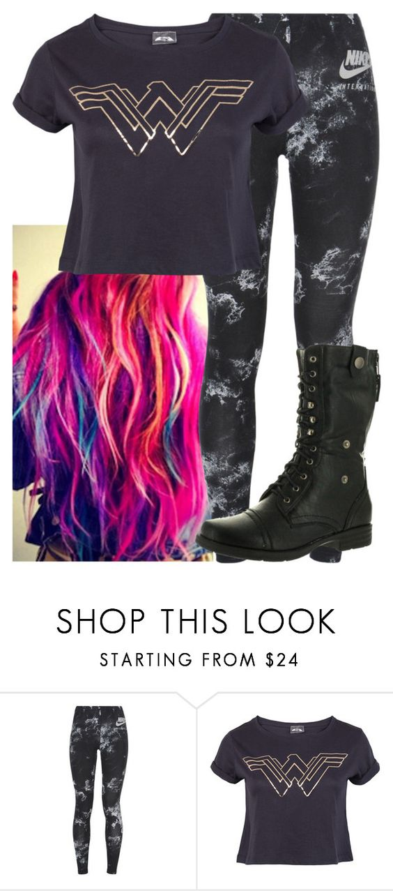 """""""Untitled #9610"""" by carmellahowyoudoin ❤ liked on Polyvore featuring NIKE and Reneeze"""