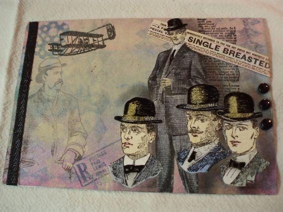 Vintage men mail art swap