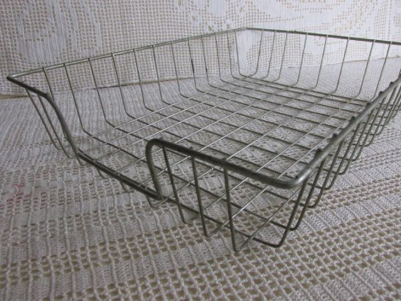 vintage wire basket letter tray industrial chic metal mail basket vintage home office in chic vintage home office