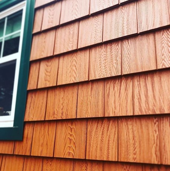 Grayne Engineered Cedar Shingles Are The Perfect Cedar Replacement Moisture Proof And Maintenance Cedar Shingle Siding Wood Siding Exterior Cedar Vinyl Siding