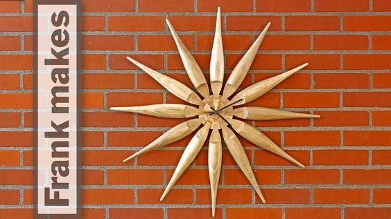 Wood Turned Sun Clock