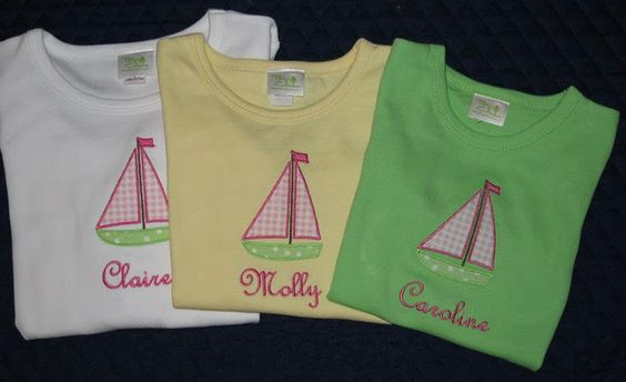 Applique Sailboats T Shirts... there is something for everyone!