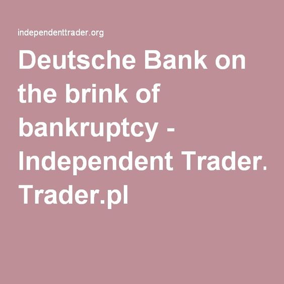 """Deutsche Bank on the brink of bankruptcy - Independent Trader. Foretold by Arthur C.Clarke in his """"Rama II' Chapter 4. The Great Chaos, when 3 intern'l banks announced they're broke. Panic around the world, billions of info delayed & the computer system crashes. People go on spending spree before transactions are processed to their bank accounts for stock market losses."""