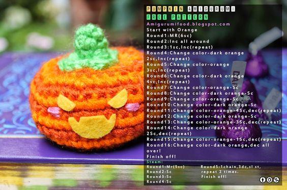 Amigurumi Food: Halloween amigurumi