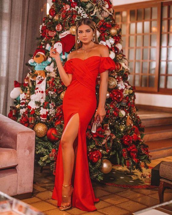 Thássia Naves -  vestido vermelho #dresses #red #outfits #lookbook