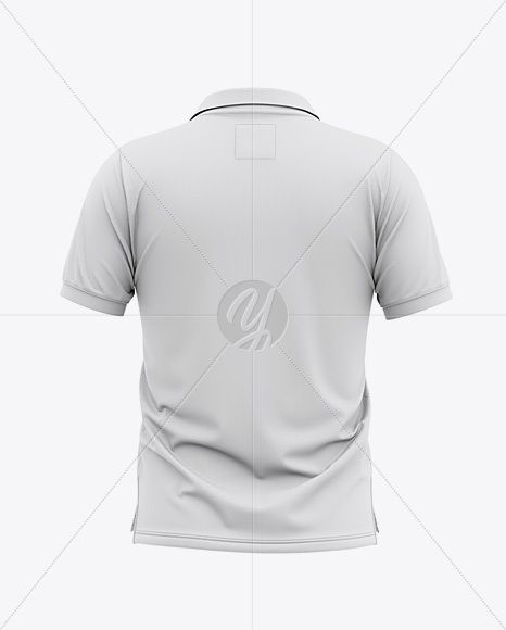 Download Men S Short Sleeve Pique Polo Shirt Back View In Apparel Mockups On Yellow Images Object Mockups Clothing Mockup Men Short Sleeve Pique Polo Shirt