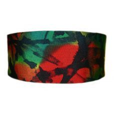 Obi Belt-Abstract Colours on Crape Silk