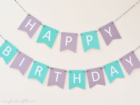 guirlande Happy Birthday à imprimer