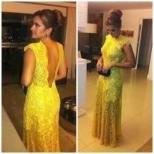 vestido de renda amarelo - Pesquisa Google