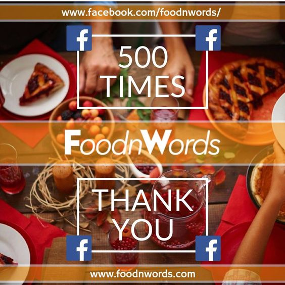 [IT/EN] 500 volte grazie! --- 500 times thank you! #facebook #foodnwordscom #cibo #food #ristorante #restaurant #messaggi #mail #liste #mailinglist #servizio #service #serviziogratuito #freeservice #clienti #customers #nuoviclienti #newcustomers
