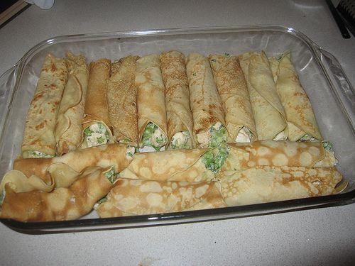 Chicken Broccolli Crepe #food #yummy #delicious