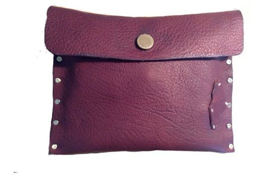 The Nox Clutch / Maine Leather Co. maineleatherco.etsy.com