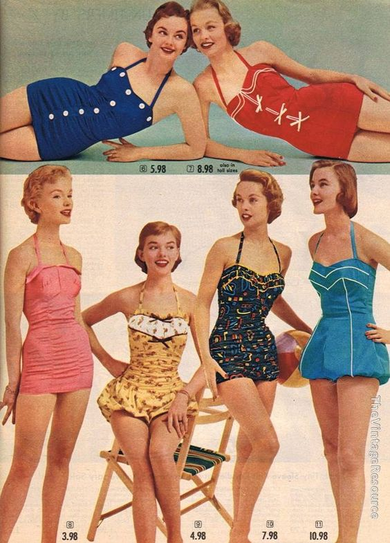 Spiegel swimwear collection 1955 swimsuits