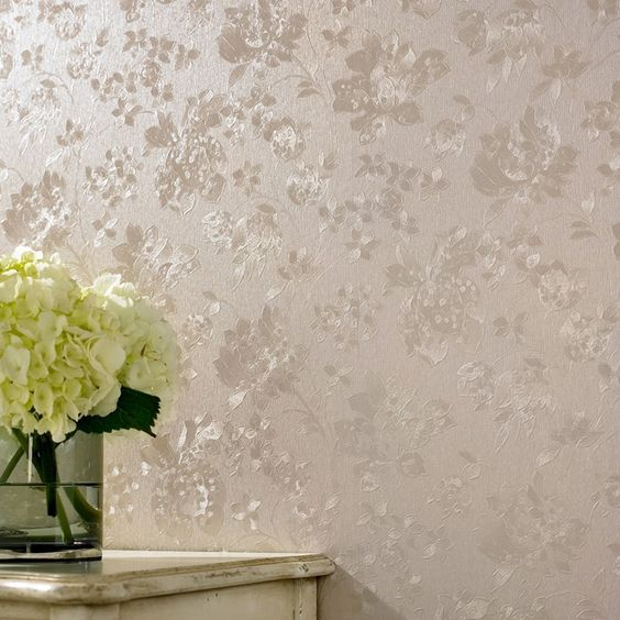Floral Silk Golden Wallpaper by Graham and Brown. Floral Silk Golden Wallpaper by Graham and Brown   Colour