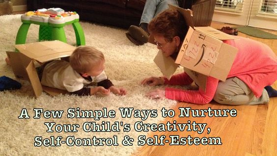 A few simple ways to nurture creativity, self esteem and self control in our children.
