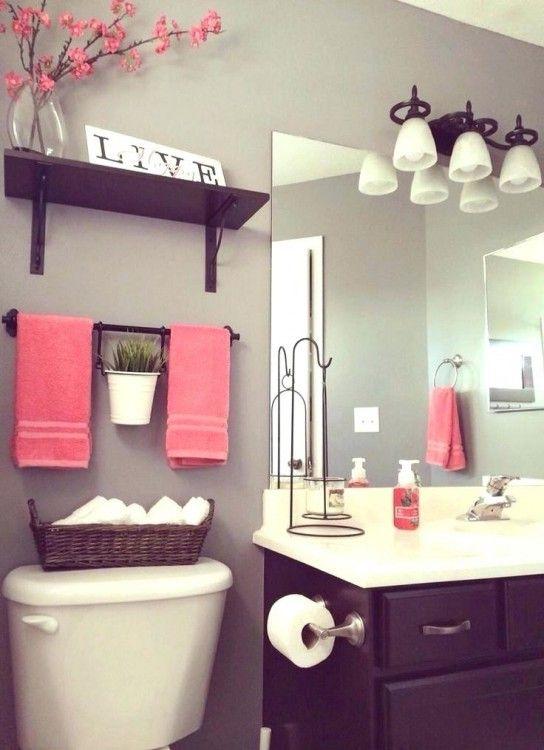 Bathroom Decor Renovation Diy, Peach And Gray Bathroom Ideas