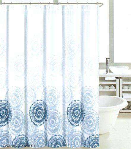 Curtains Ideas blue ombre shower curtain : Max Studio Home Cotton Shower Curtain Sea Medallion Jellyfish Blue ...