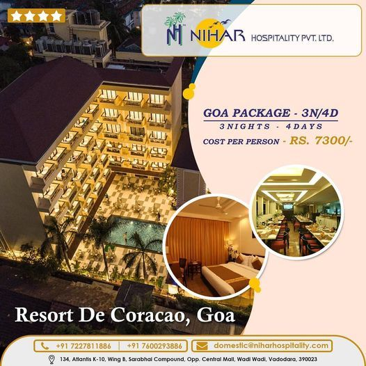 Best Packages Tour To Goa From Vadodara Tour Packages Family Friendly Resorts Goa