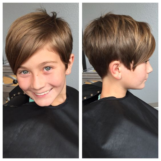Kids pixie haircut: