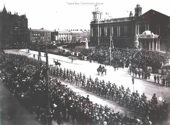 36th Ulster Division Marching Passed Belfast City Hall
