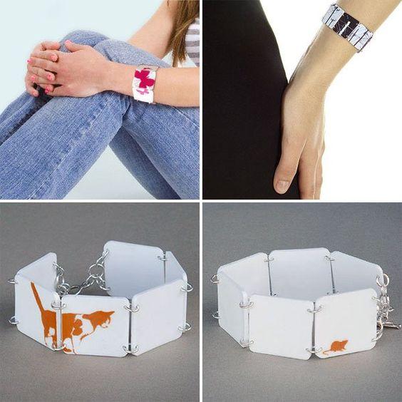 Shrinky Dink bracelets - @Heather Legge-Click - you should do this!!!!!!