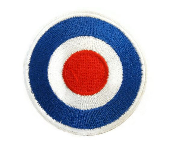 Vespa Mod Target Motorcycles Biker Scooter Embroidered Applique Iron on Patch