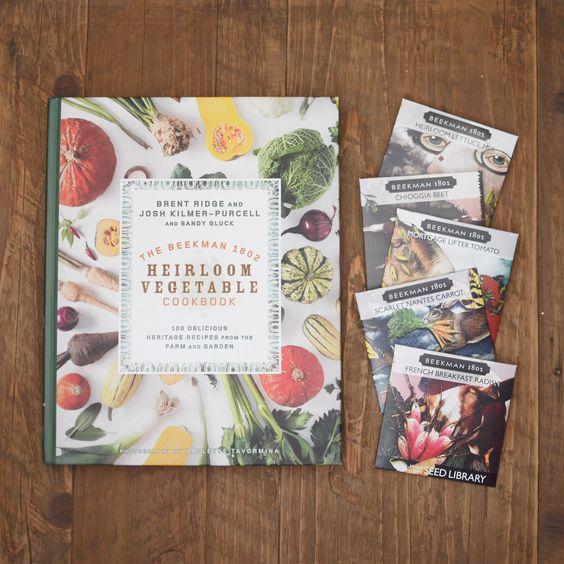 Heirloom Garden Seeds with The Beekman 1802 Heirloom Vegetable Cookbook - autographed