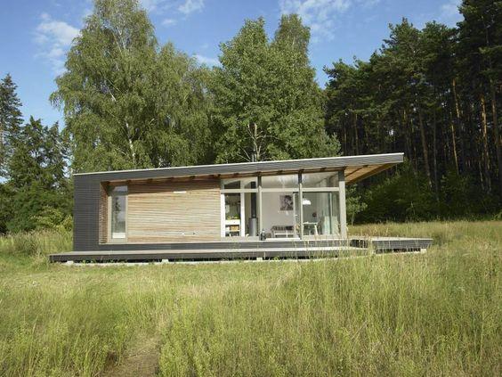 Sommerhaus PIU 65: Skandinavisch Häuser von SOMMERHAUS PIU