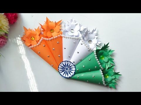 Diy Republic Day How To Make Greeting Card Idea For Independence Day Youtube How To Make Greetings Flag Crafts Paper Flowers Craft