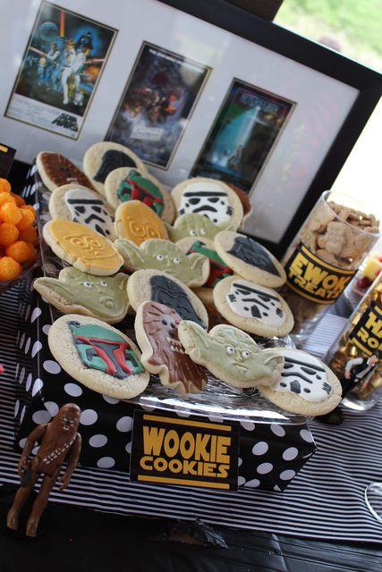 Wookie Cookies at a Star Wars party #starwars #partycookies