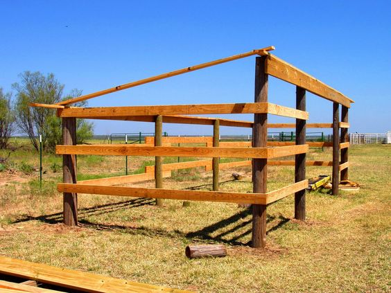Lean to lean to shelter and horse shed on pinterest for Lean to shelter plans