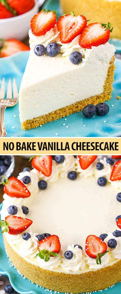 The Perfect No Bake Cheesecake Recipe No Fuss Easy Cheesecake Recipe Best No Bake Cheesecake Cheesecake Recipes Easy Cheesecake