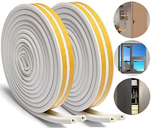 Loobani 448 Inches Long Door Window Insulation Soundproofing Weather Stripping Tape Epdm Rubber Self Foa Window Insulation Weather Stripping Windows And Doors