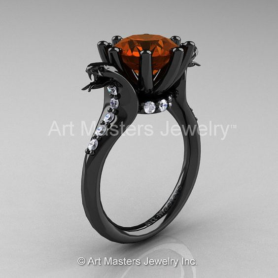 Art Masters Cobra 14K Black Gold 3.0 Ct Brown and by DesignMasters, $4299.00