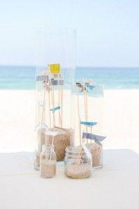 Nautical Sailor Anchor Birthday Party Sand Centerpiece