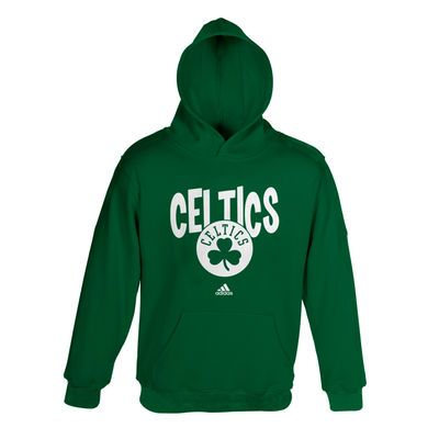 adidas Boston Celtics Preschool Front Whirlwind Hoodie - Kelly Green