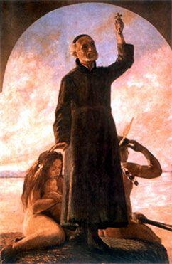Vieira na redução das tribos de Marajó, em 1657. Óleo de Theodoro Braga.