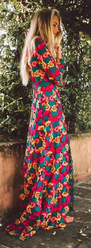 #spring #fashionistas #outfit #ideas | Full bloom maxi dress | Janni Deler