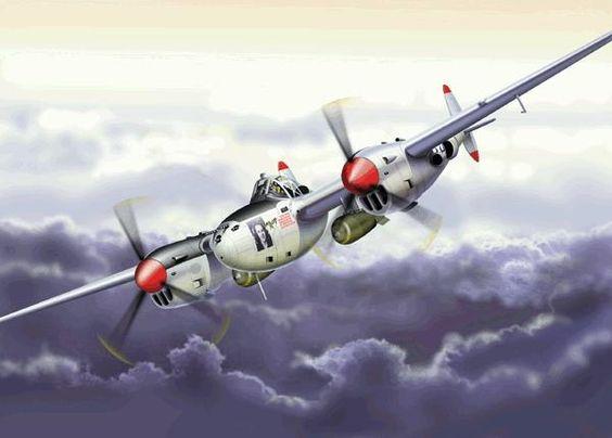 P-38 lightning illustration