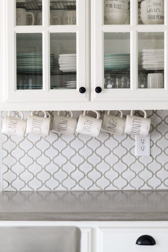 Maximising Space in Tiny Kitchens · Installing mug hooks · Via www.sweethings.net