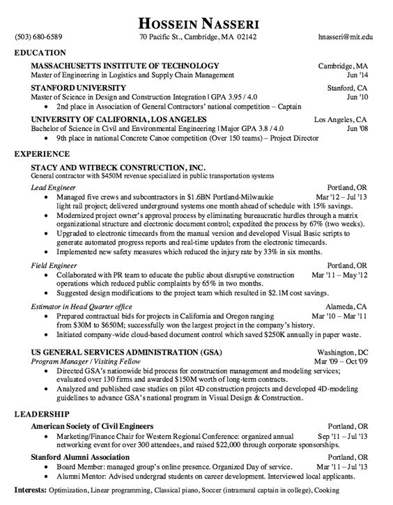 Sample Resume Lead Engineer - http\/\/resumesdesign\/sample - estimator sample resumes