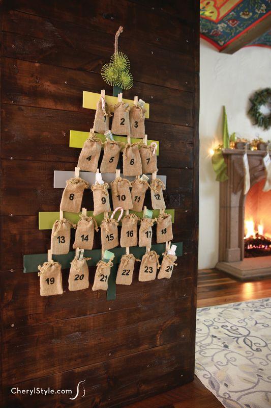 create a DIY advent calendar for the kids this Christmas | CherylStyle.com