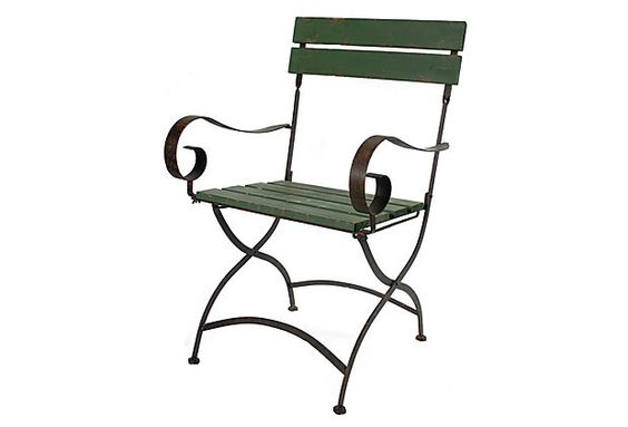 Such a charming arm chair for the garden.