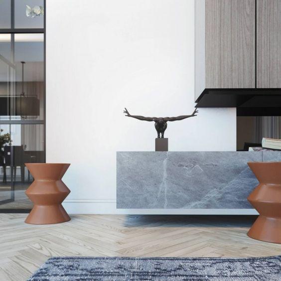 Penthouse-Wohnung mit Loft-Gestaltung-harmonievolle und stylische - grau braun einrichten penthouse