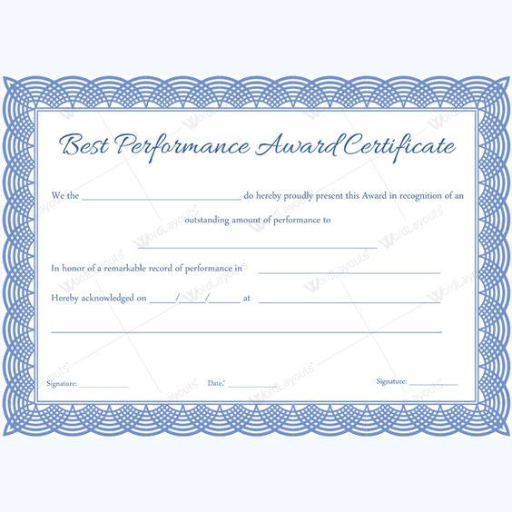 Performance award card yeniscale performance award card best performance certificate template performancetemplate yelopaper Choice Image