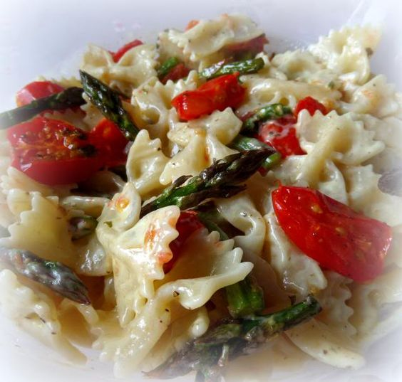 Pasta Salad with Roasted Tomatoes and Asparagusfrom The English Kitchen