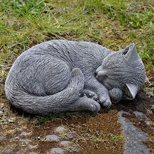 Gartenfigur Nbsp Nbsp Skulptur Nbsp Nbsp Memorial Schlafende Katze Aus Stein Detailliert Gartenfiguren Katzengarten Schlafende Katze