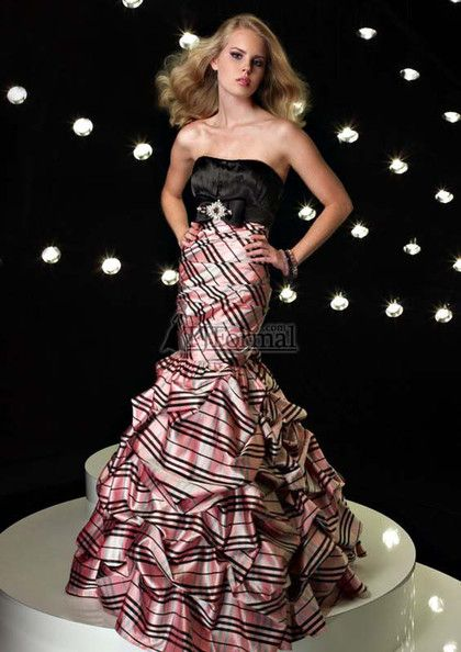 Pink Plaid Prom Gowns - Sexy- Plaid and Prom dresses